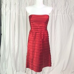 Red Strapless BCBGMAXAZRIA Dress Size 6